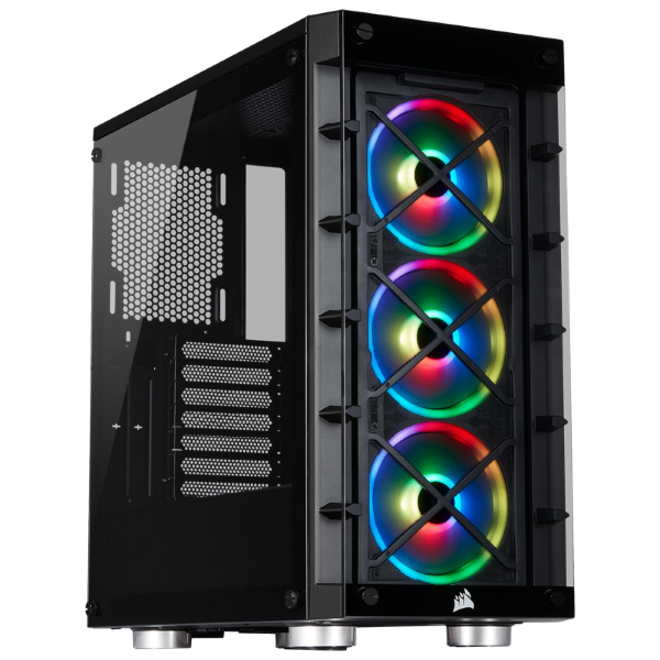Corsair iCUE 465X / iCUE-RGB / Tempered Glass - Svart