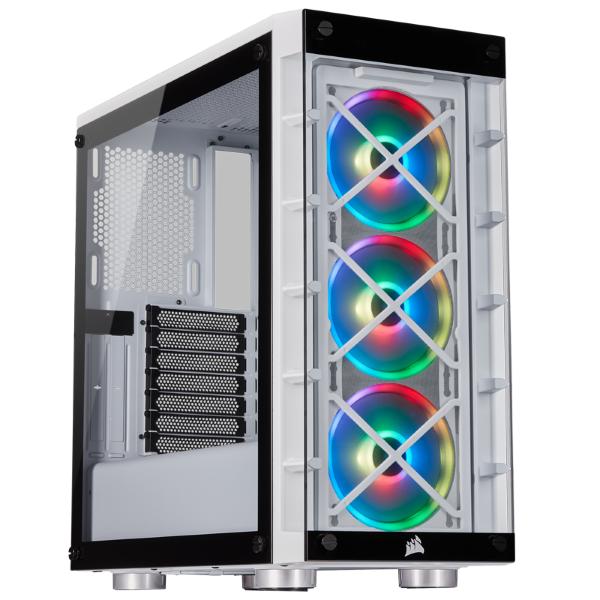 Corsair iCUE 465X / iCUE-RGB / Tempered Glass - Vit