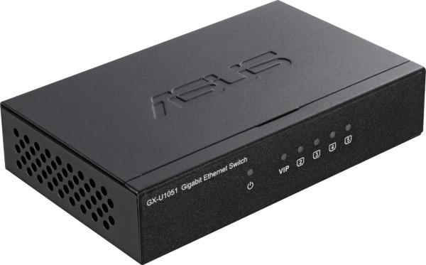 ASUS GX-U1051 / 5-Port / VIP-Port  / Gigabit Switch / Unmanaged