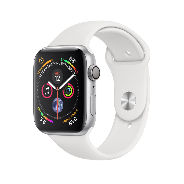 Apple Watch Series 4 GPS, 40mm Silver Aluminium Case with White Sport Band (Fyndvara - Klass 1)
