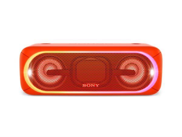 Sony SRS-XB40 Bärbar högtalare Bluetooth / NFC / LED-effekter - röd (Fyndvara - Klass 1)