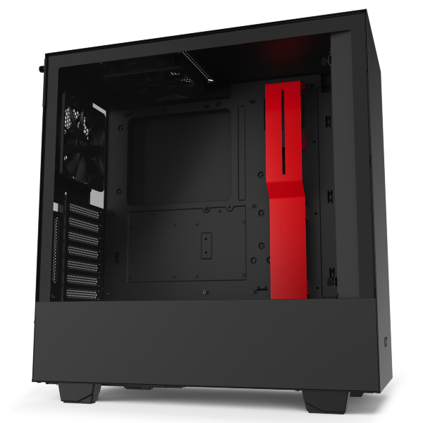 NZXT H510i / CAM-RGB / Tempered Glass - Svart/Röd