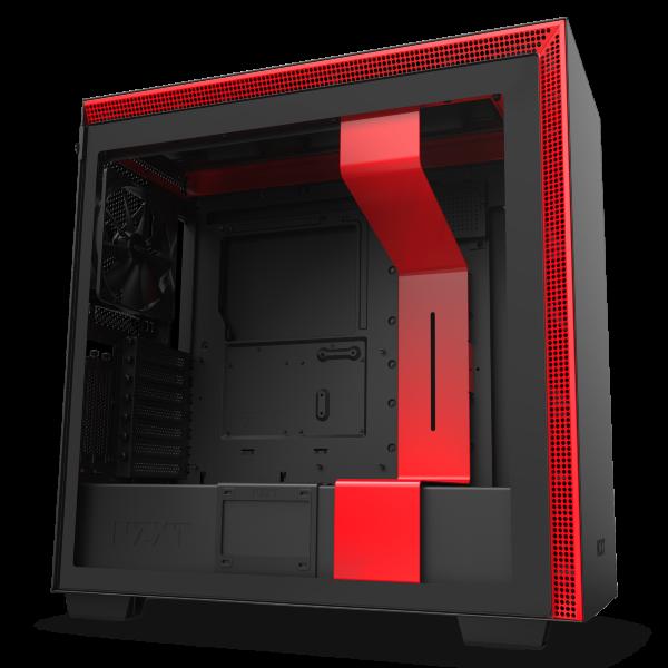 NZXT H710i / CAM-RGB / Tempered Glass - Svart/Röd