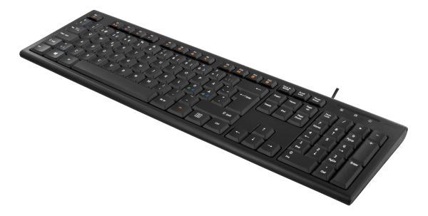 Deltaco Tangentbord, nordisk layout, USB, 1,1m kabel, svart (Fyndvara - Klass 2)