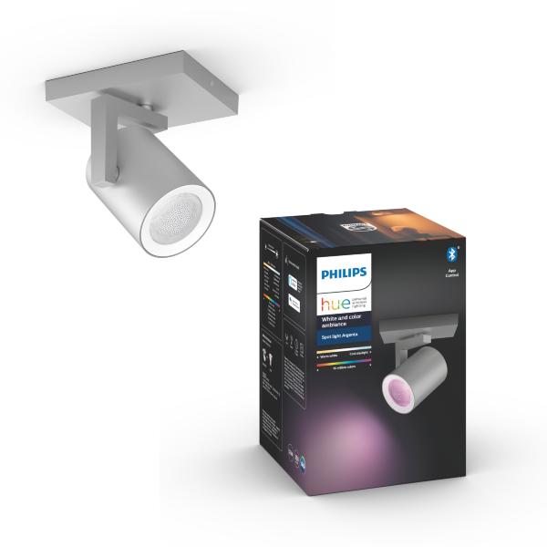 Philips Hue Argenta Spotlight 7W / 1x - Aluminium