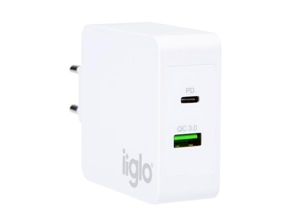iiglo Universalladdare USB-C/USB-A