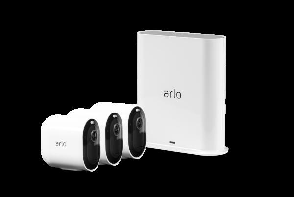 Arlo Pro 3 - Trådlöst 2K säkerhetssystem med 3 kameror - Vit