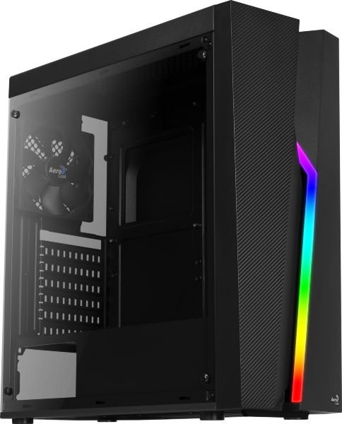 Aerocool Bolt / RGB / Tempered Glass