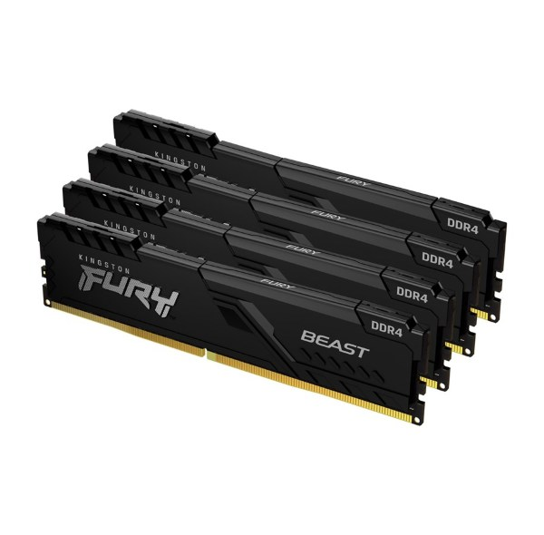 HyperX Fury Black 16GB (4x4GB) / 3200MHz / DDR4 / CL16 / HX432C16FB3K4/16