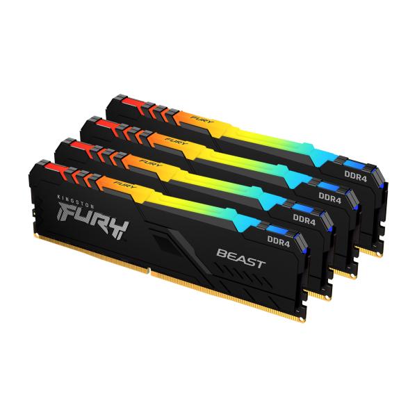 HyperX Fury RGB 32GB (4x8GB) / 3200MHz / DDR4 / CL16 / HX432C16FB3AK4/32
