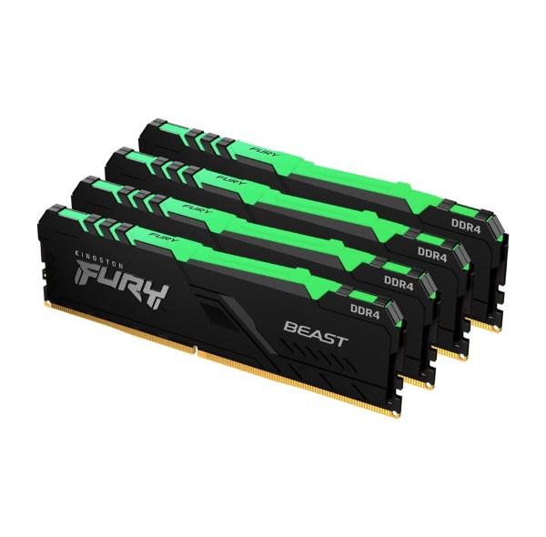 HyperX Fury RGB 64GB (4x16GB) / 3200MHz / DDR4 / CL16 / HX432C16FB3AK4/64