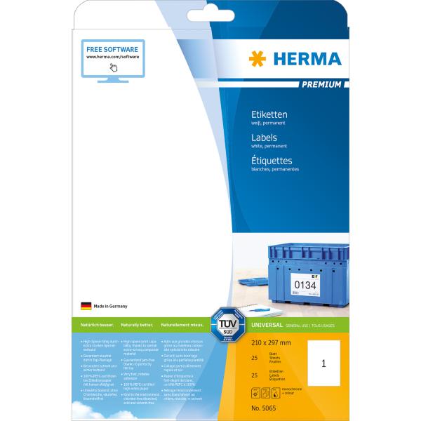Herma etikett Premium 210x297 (A4) (25)