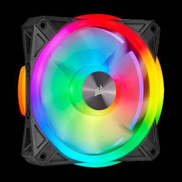 Corsair QL120 / iCUE-RGB / PWM / 120mm / Svart / 1-pack - Add-on