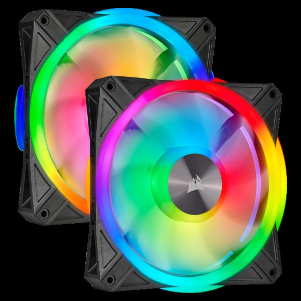 Corsair QL140 / iCUE-RGB / PWM / 140mm / 2-pack - Startkit