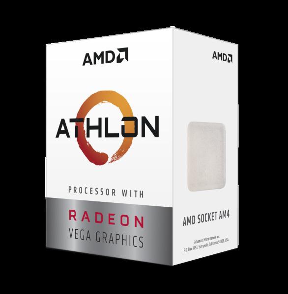 AMD Athlon 3000G / Dual Core 4-Thread / 3.5GHz / 35W TDP / Vega 3 Graphics