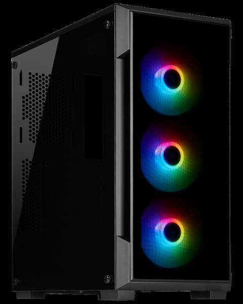 Corsair iCue 220T / iCUE-RGB / Tempered Glass - Svart