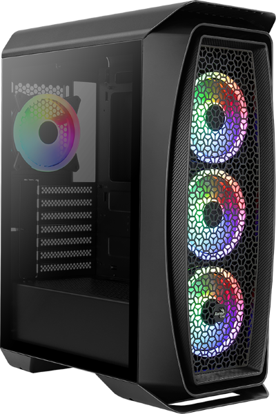 Aerocool One Duo / A-RGB / Tempered Glass  - Svart