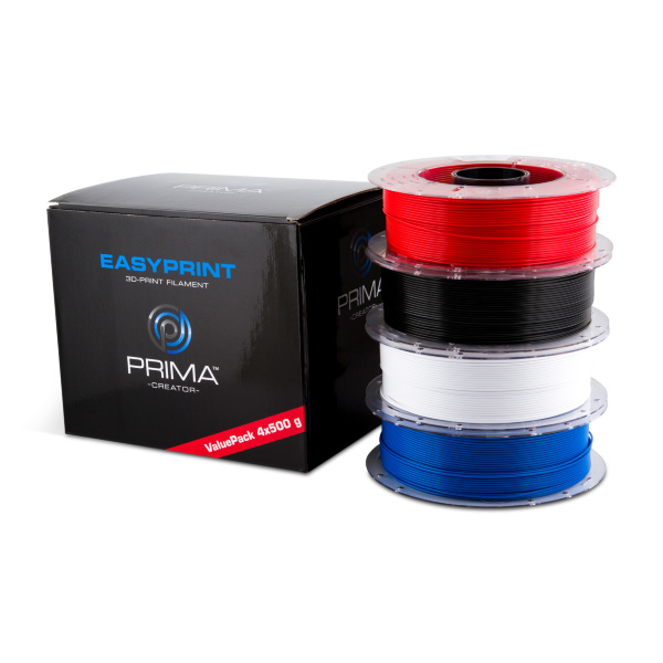 PrimaCreator™ EasyPrint PLA - 4x500g - Value Pack