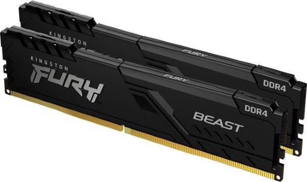 HyperX Fury Black 16GB (2x8GB) / 3600MHz / DDR4 / CL17 / HX436C17FB3K2/16