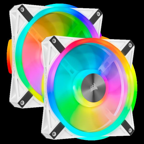 Corsair QL140 / iCUE-RGB / PWM / 140mm / Vit / 2-pack - Startkit