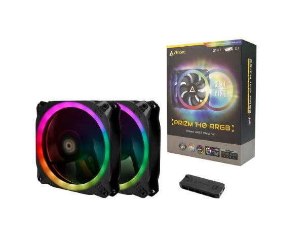 Antec Prizm 140 / A-RGB / PWM / 140mm / 2-pack / Ink kontroller