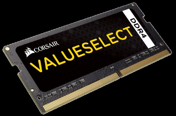 Corsair Value Select 16GB (1x16GB) / 2133MHz / DDR4 SODIMM / CL15 (Fyndvara - Klass 1)