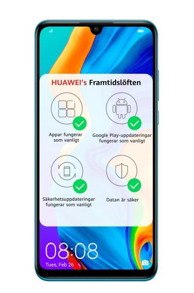 Huawei P30 Lite / Dual-sim / 128GB – Peacock Blue (Fyndvara – Klass 2)