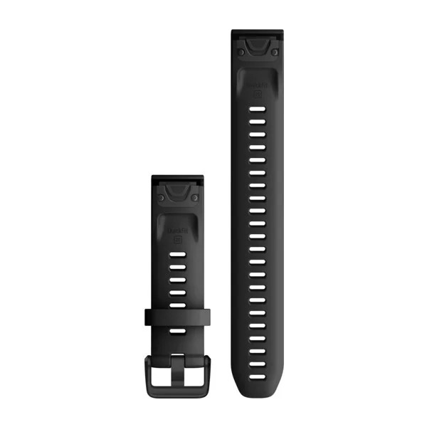 Garmin QuickFit 20 Large Silicone Band – Black