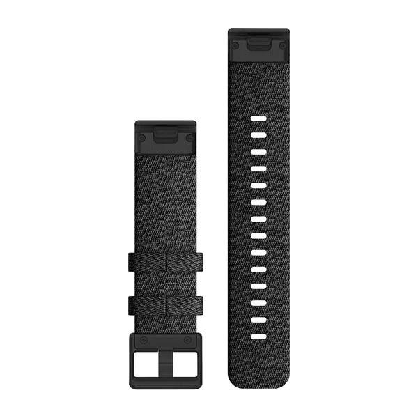Garmin QuickFit 20 Small Nylon Band – Heathered Black with Black