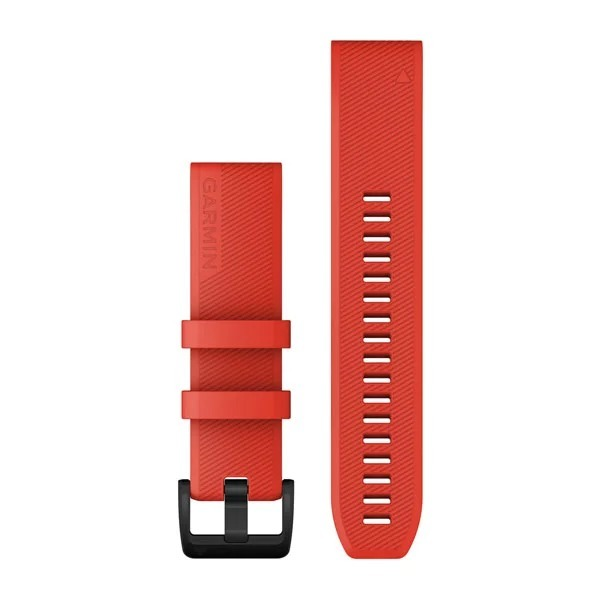 Garmin QuickFit 22 Silicone Band – Laser Red