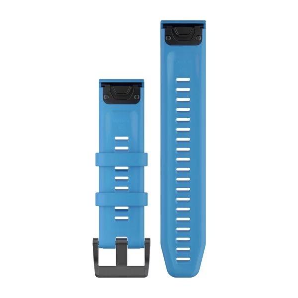 Garmin QuickFit 22 Silicone Band – Cyan Blue