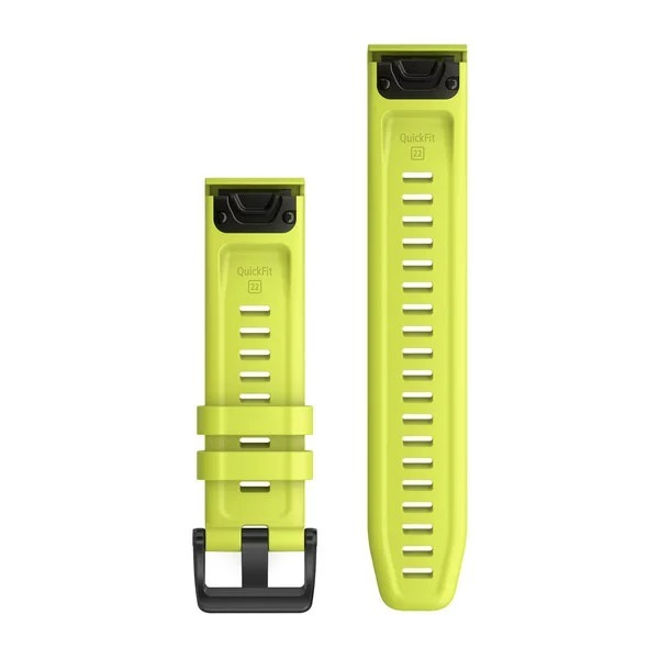 Garmin QuickFit 22 Silicone Band – Amp Yellow
