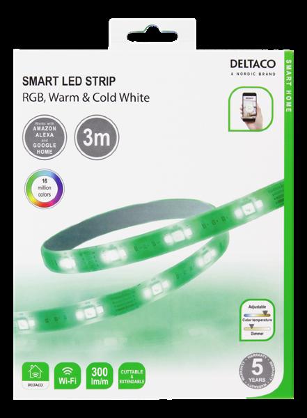 Deltaco Smart LED-list RGB - 3m