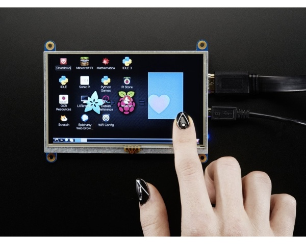 Adafruit HDMI 5 800x480 Display Backpack - With Touchscreen