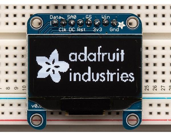 Adafruit Monochrome 1.3 128x64 OLED graphic display