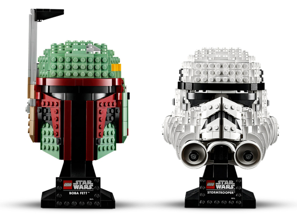 LEGO Star Wars Boba Fett + Stormtrooper Helmet (2 pack)