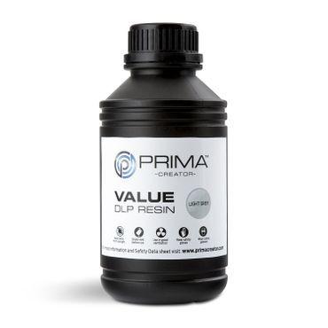 PrimaCreator Value UV / DLP Resin - 500 ml - Ljusgrå