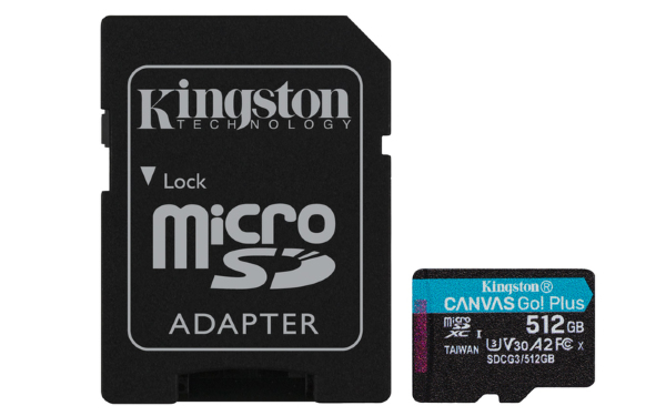 Kingston microSDXC Canvas Go Plus – 512GB / Class10 / UHS-1 / 170MB/s