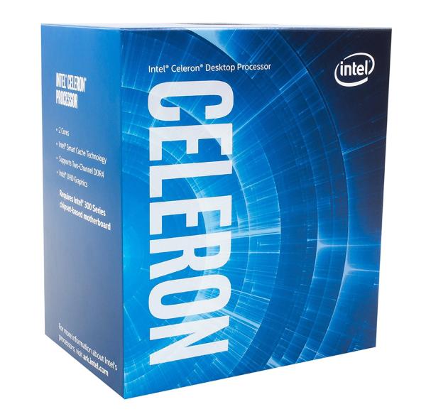 Intel Celeron- G-5900 – 2 kärnor / 2 trådar / 34 GHz / 2MB / Socket 1200