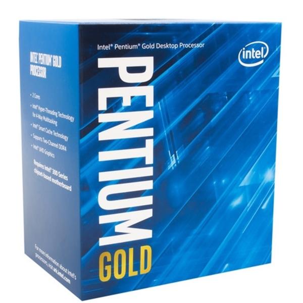 Intel Pentium Gold - G-6500 - 2 kärnor / 4 trådar / 4,1 GHz / 4MB / Socket 1200