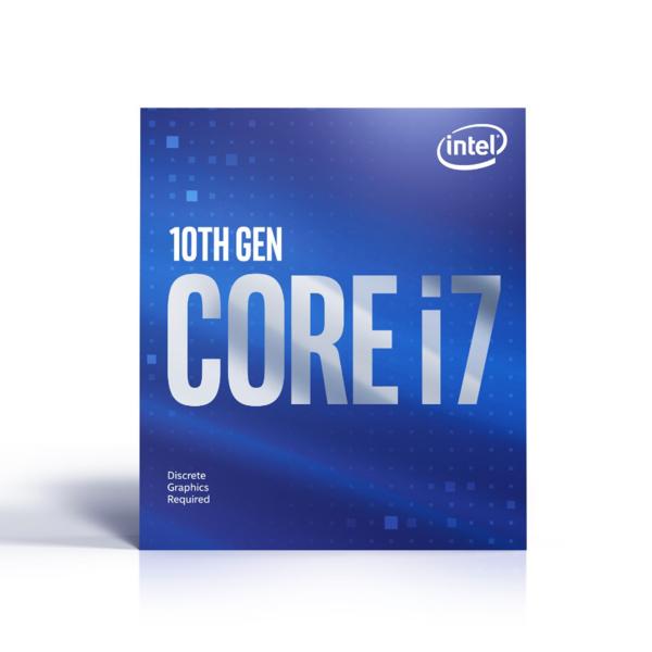 Intel Core i7-10700F – 8 kärnor / 16 trådar / 29 GHz / 48 GHz Turbo / 16MB / Socket 1200