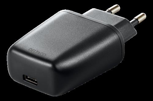 Deltaco USB-laddare 5V 3A 15W – Svart (Fyndvara – Klass 1)