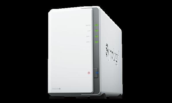 Synology DS220j - 2 fack / 1,4GHz Quad Core / 512MB RAM