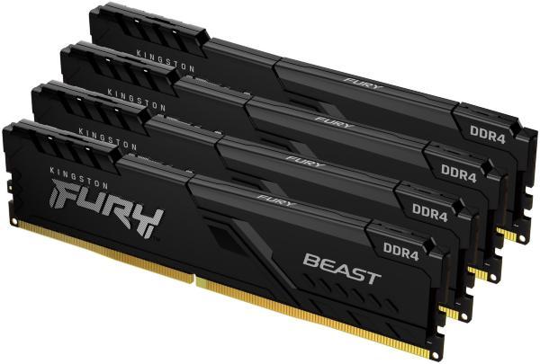 HyperX Fury Black 128GB (4x32GB) / 3200MHz / DDR4 / CL16 / HX432C16FB3K4/128