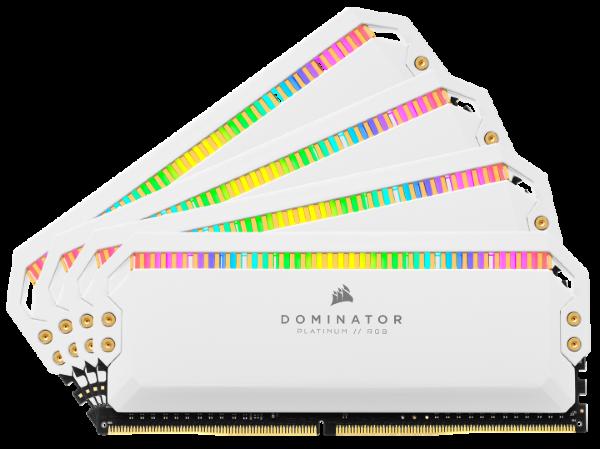 Dominator Platinum RGB 32GB (4x8GB) / 3600MHz / DDR4 / C18 - Vit