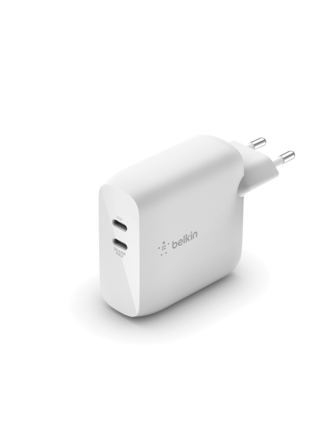 Belkin – 63W GaN dubbel laddare med 1 USB-C 45W 1 USB-C 18W (60 W using 1 port)