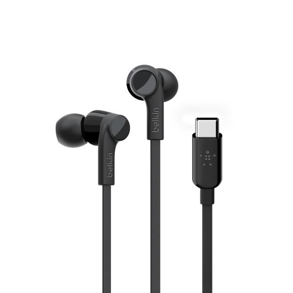Belkin – USB-C IN-EAR HEADPHONE – Svart