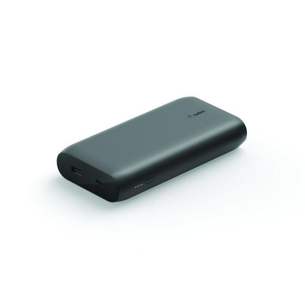 Belkin- Powerbank 20000 mAh 1 x USB-C 30W PD 1 x USB-A – Svart