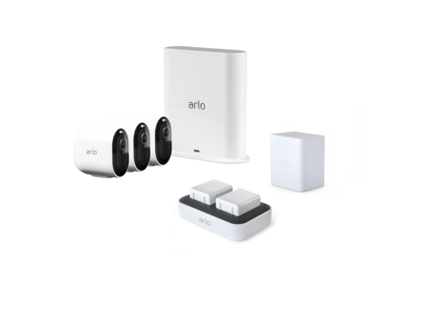 Arlo Pro 3 3-pack + Laddningsstation + Batteri