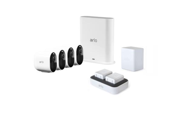 Arlo Pro 3 4-pack + Laddningsstation + Batteri